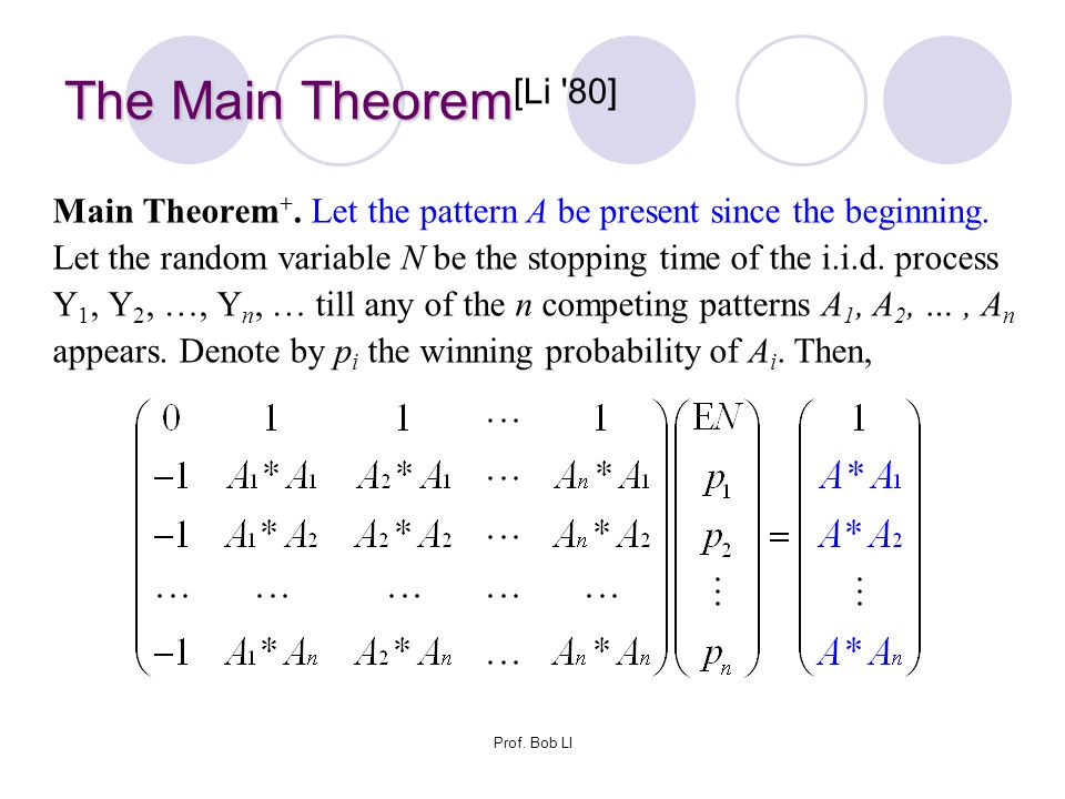The Main Theorem[Li 80]
